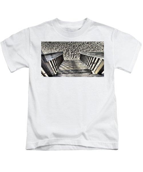Steps To The Beach Kids T-Shirt