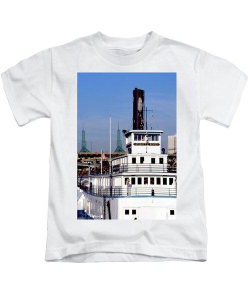Sternwheeler, Portland Or  Kids T-Shirt