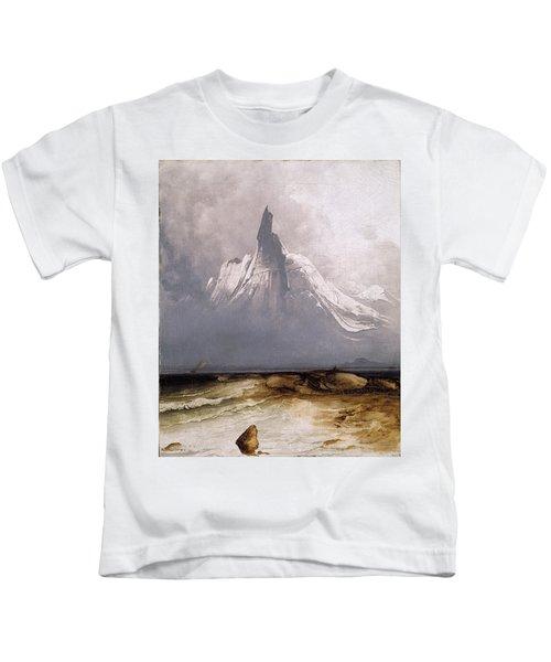 Stetind In Fog Kids T-Shirt