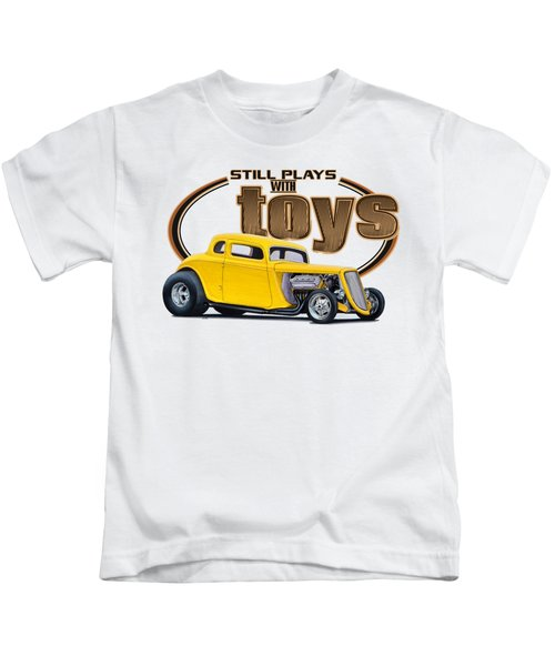 Still Plays With Hot Rod Cars Kids T-Shirt