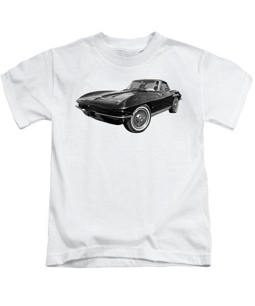 Stingray 1963 Split Window In Black And White Kids T-Shirt