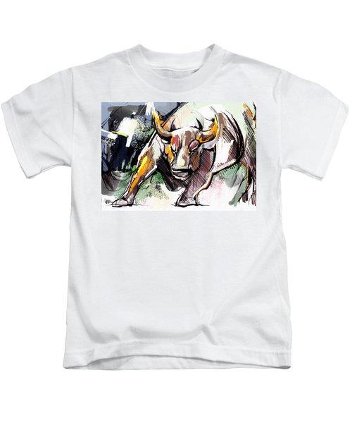 Stock Market Bull Kids T-Shirt