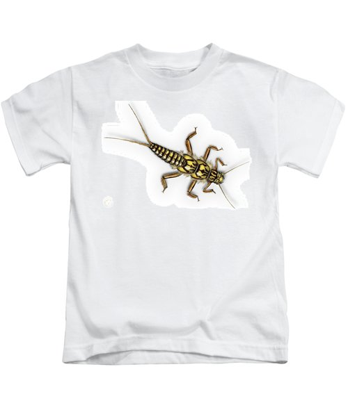 Stonefly Larva Nymph Plecoptera Perla Marginata - Steinflue -  Kids T-Shirt