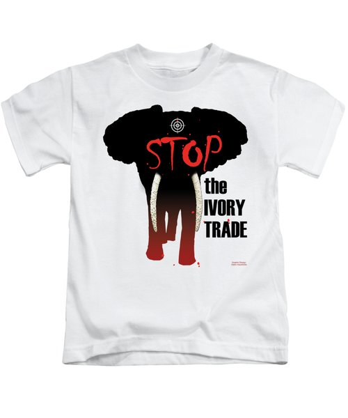 Stop The Ivory Trade Kids T-Shirt by Galen Hazelhofer