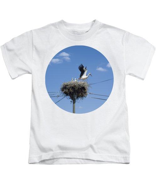 Storks Nest Alentejo Kids T-Shirt by Mikehoward Photography