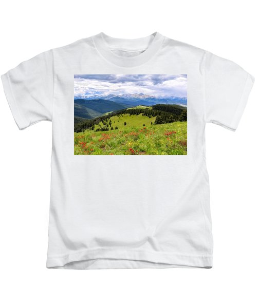 Storm Over Mount Of The Holy Cross Kids T-Shirt