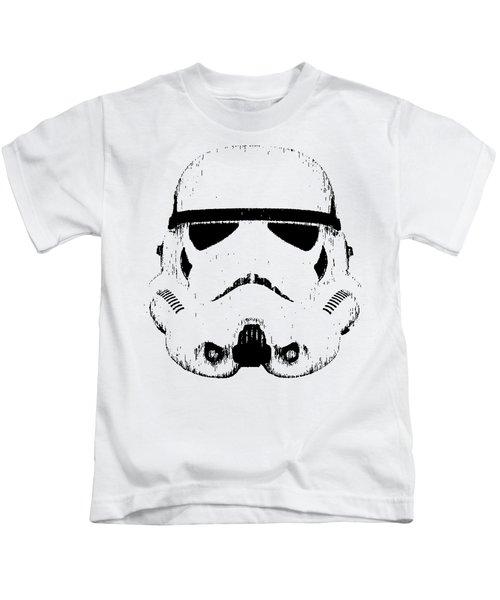 Stormtrooper Helmet Star Wars Tee Black Ink Kids T-Shirt