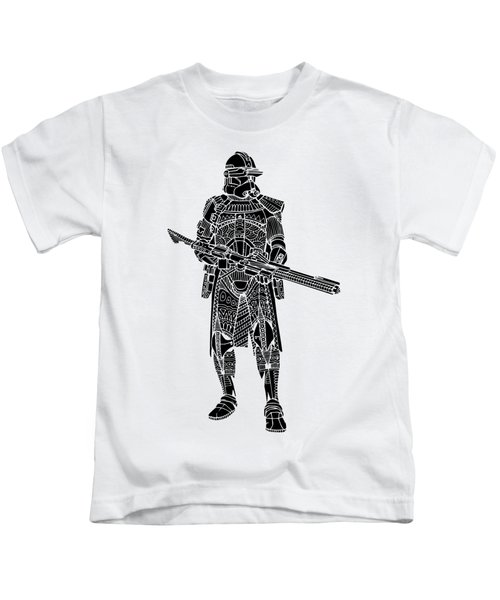 Stormtrooper Samurai - Star Wars Art - Black Kids T-Shirt