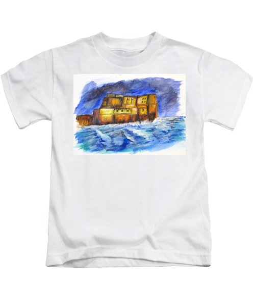 Stormy Castle Dell'ovo, Napoli Kids T-Shirt