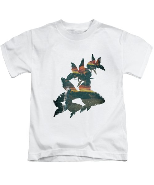 Strange Encounter Kids T-Shirt by Katherine Smit