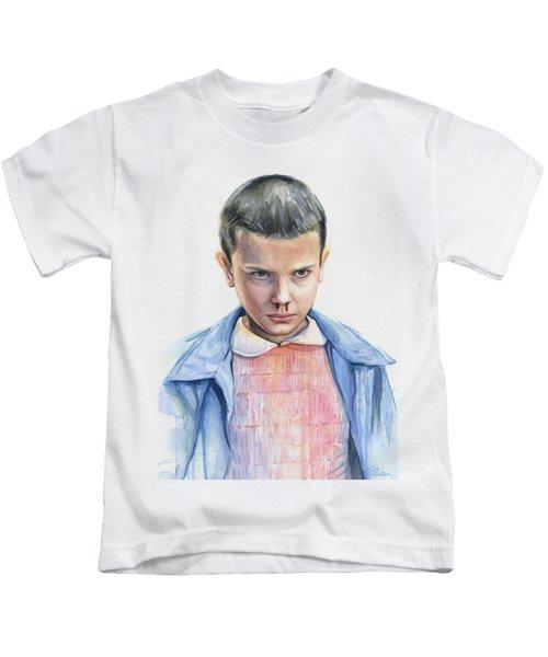 Stranger Things Eleven Portrait Kids T-Shirt