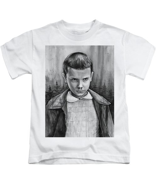 Stranger Things Fan Art Eleven Kids T-Shirt