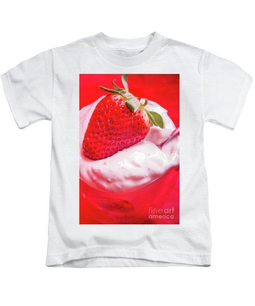 Strawberries And Cream Kids T-Shirt
