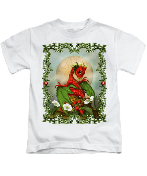 Strawberry Dragon T-shirt Kids T-Shirt by Stanley Morrison