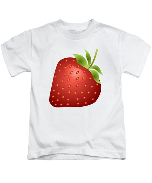Strawberry Fruit Kids T-Shirt by Miroslav Nemecek