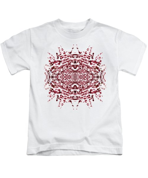 Strawberry Red Abstract Kids T-Shirt by Frank Tschakert