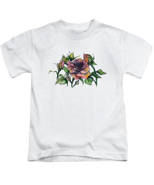 Stylized Roses Kids T-Shirt
