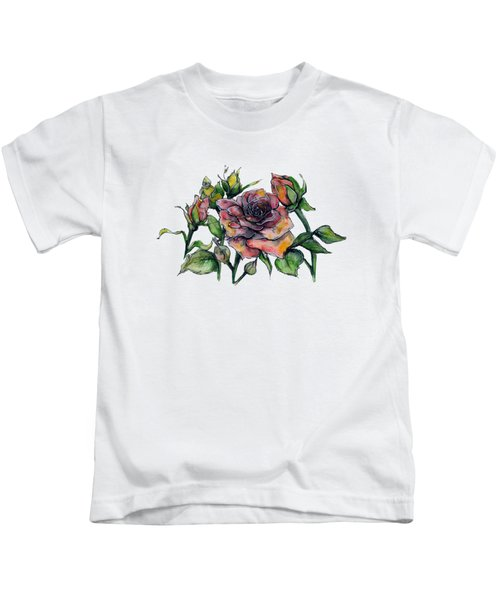 Stylized Roses Kids T-Shirt