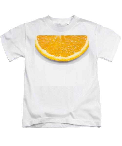 Summer Fruit Orange Slice On Studio Copyspace Kids T-Shirt