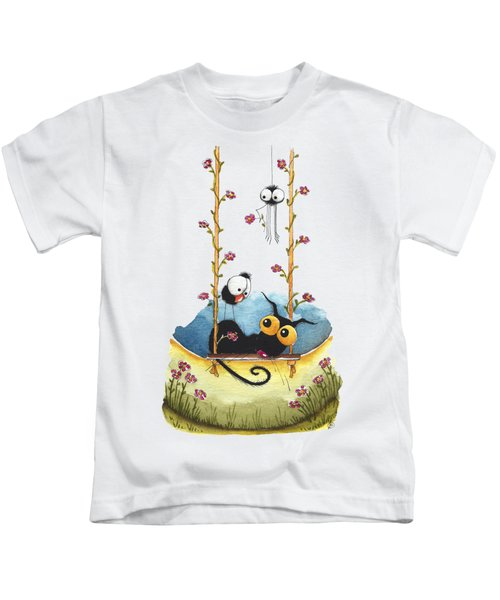 Summer Swing Kids T-Shirt by Lucia Stewart