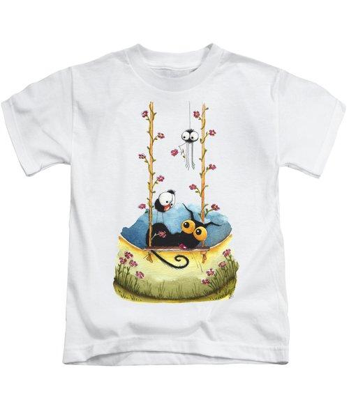 Summer Swing Kids T-Shirt by Lucia Stewart