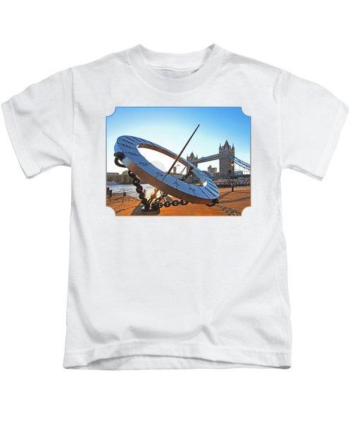 Sun Dial And Tower Bridge London Kids T-Shirt