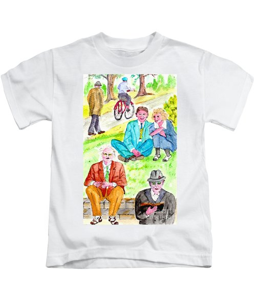 Sunday Morning In Prospect Park Kids T-Shirt