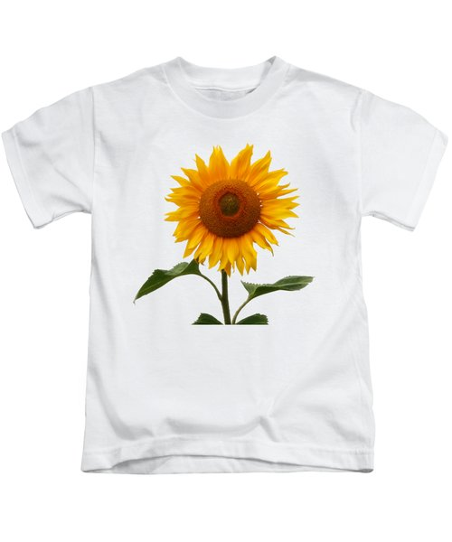 Sunflower On White Kids T-Shirt