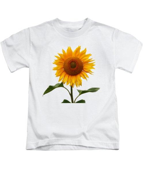 Sunflower On White Kids T-Shirt