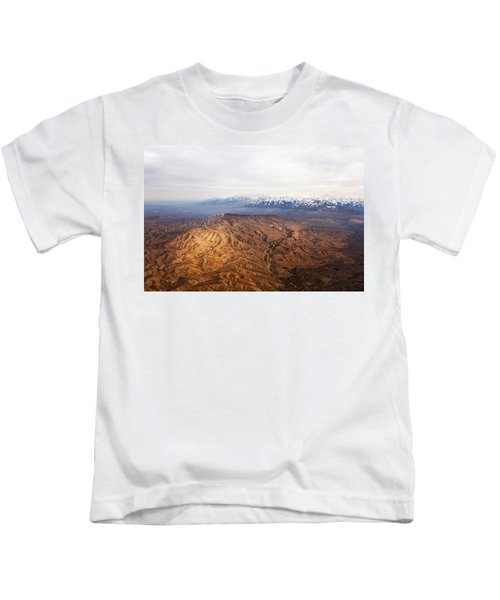 Sunlight And Snow-capped Peaks Kids T-Shirt