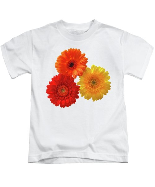 Sunny Gerbera On White Kids T-Shirt