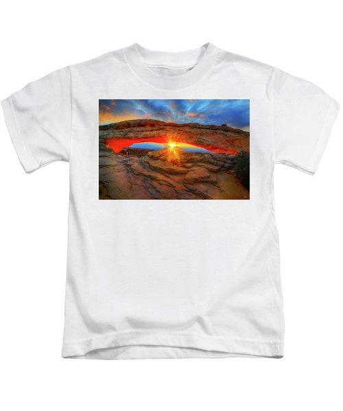 Sunrise At Mesa Arch Kids T-Shirt
