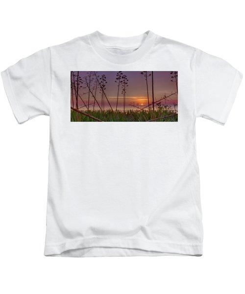 Sunrise Palm Blooms Kids T-Shirt