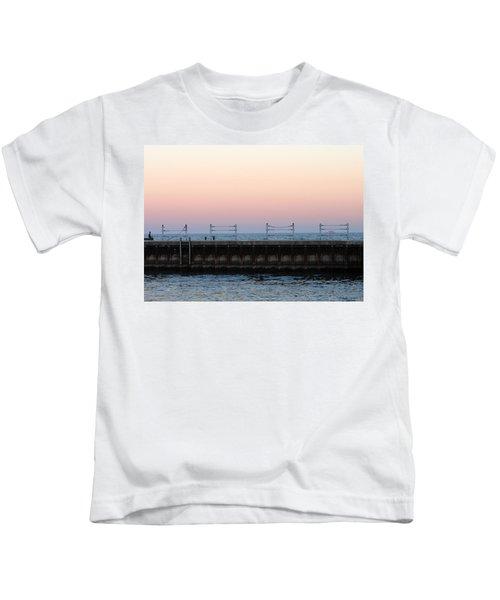 Sunset At Diversey Harbor Kids T-Shirt