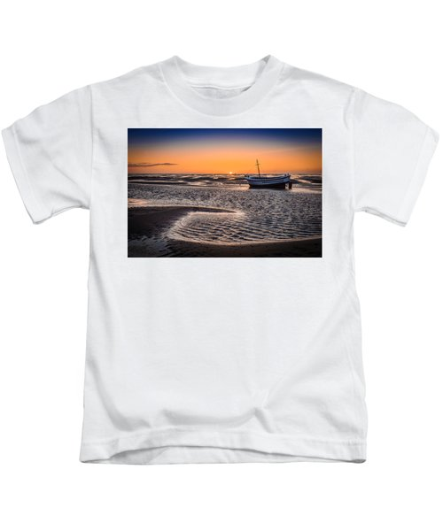 Sunset, Meols Beach Kids T-Shirt