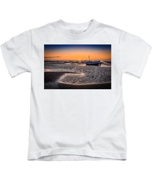 Sunset, Meols Beach Kids T-Shirt