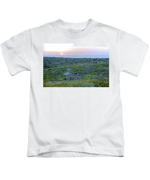 Sunset Over A 2000 Years Old Village Kids T-Shirt