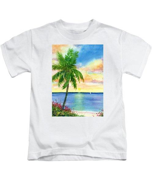 Sunset Palm Kids T-Shirt