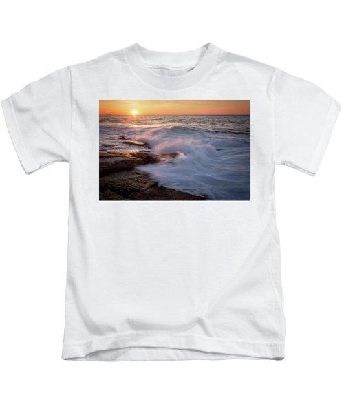 Sunset Waves Rockport Ma. Kids T-Shirt