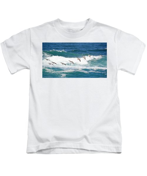 Surf And Pelicans Kids T-Shirt