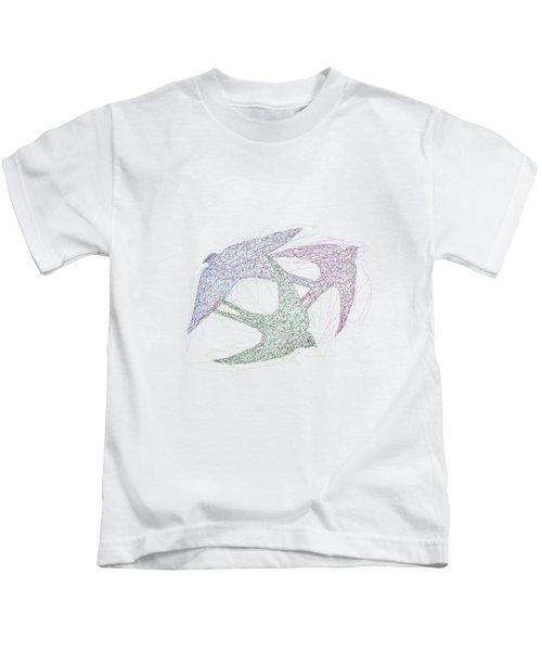 Swallow Birds Motion Design  Kids T-Shirt