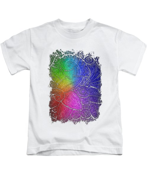 Swan Dance Cool Rainbow 3 Dimensional Kids T-Shirt