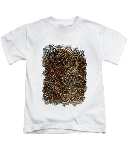 Swan Dance Earthy 3 Dimensional Kids T-Shirt