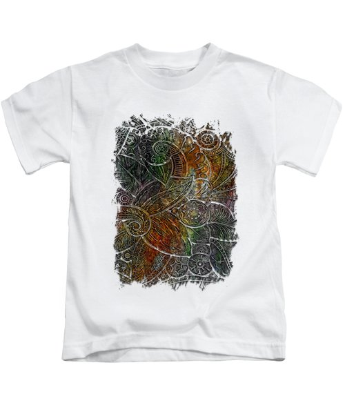 Swan Dance Muted Rainbow 3 Dimensional Kids T-Shirt