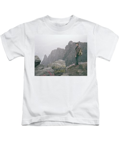 T-04701 Fred Beckey On Mt. Si 1958  Kids T-Shirt
