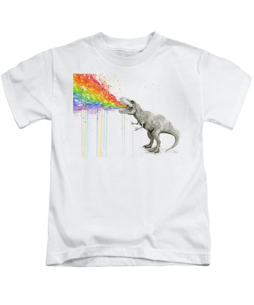T-rex Tastes The Rainbow Kids T-Shirt