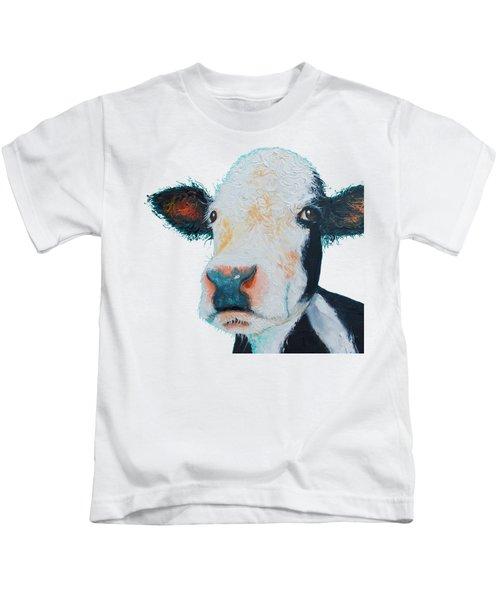 T-shirt With Cow Design Kids T-Shirt