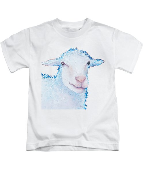 T-shirt With Sheep Design Kids T-Shirt by Jan Matson
