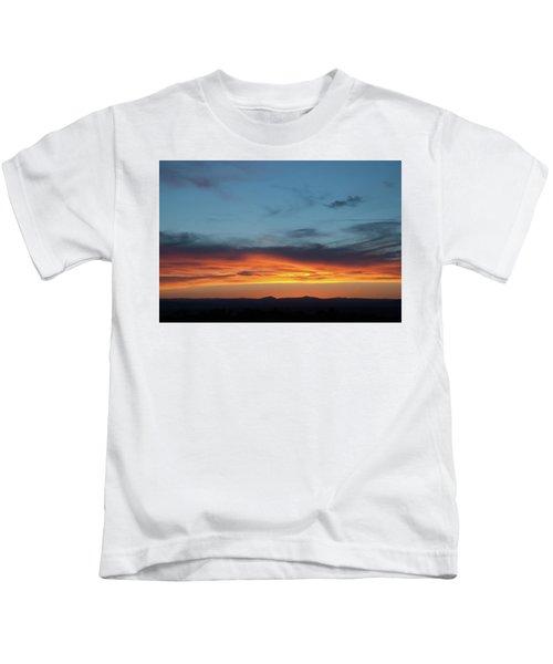 Taos Mesa Sunset Kids T-Shirt