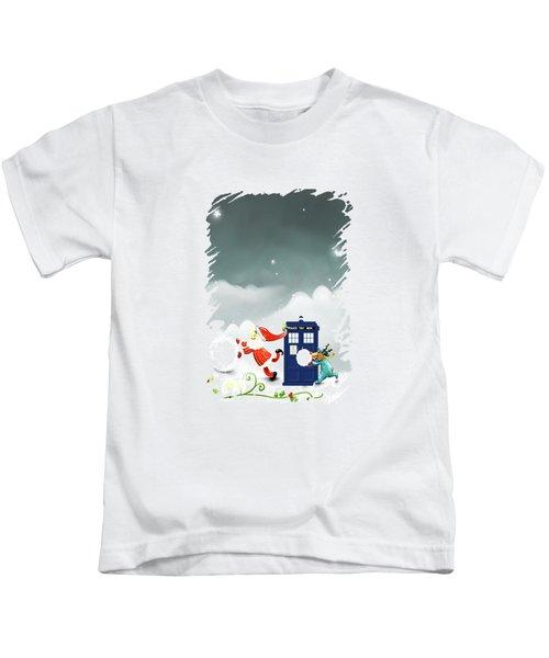 9bfcb86113 Tardis Santa Kids T-Shirt
